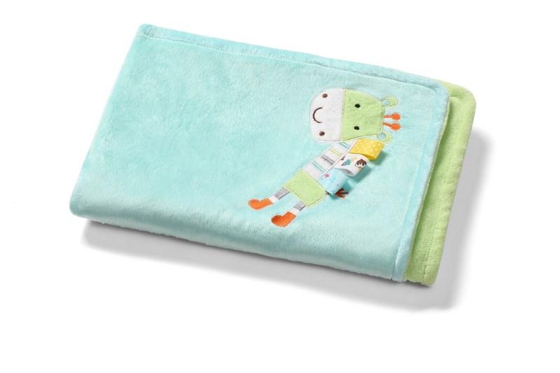BabyOno Μαλακή Κουβέρτα Διπλής Όψης 75x100cm Καμηλοπάρδαλη