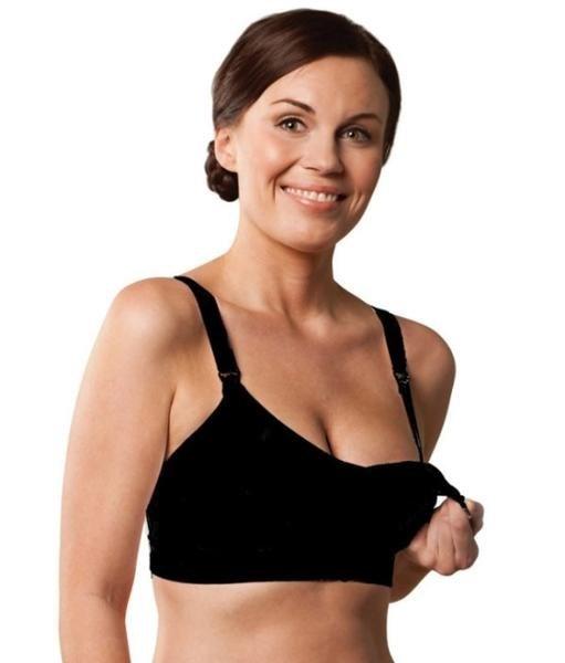 Carriwell Σουτιέν Θηλασμού Χωρίς Ραφές με Ενίσχυση Seamless Padded Nursing Bra Μαύρο