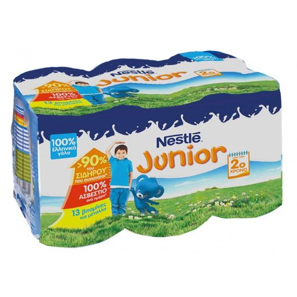 Nestle Junior Συμπυκνωμένο Γάλα, Πολυσυσκευασία 6x400γρ