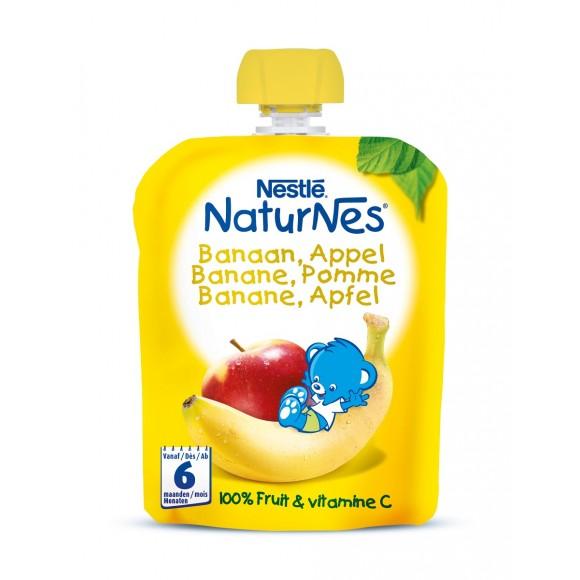 Nestle Naturnes Φρουτοπουρές Μπανάνα Μήλο 90g