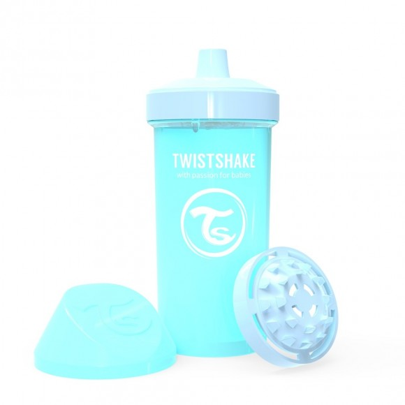 Twistshake Κύπελλο Kid Cup 360ml 12+μηνών Pastel Blue με Μίξερ Φρούτων