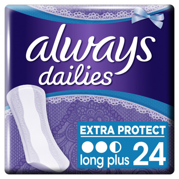 Always Σερβιετάκια Dailies Extra Protect Long Plus 24τμχ