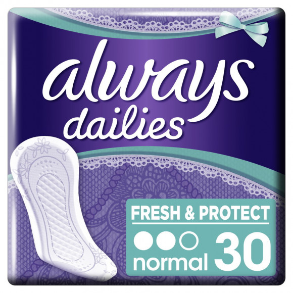 Always Σερβιετάκια Dailies Fresh & Protect Normal 30τμχ