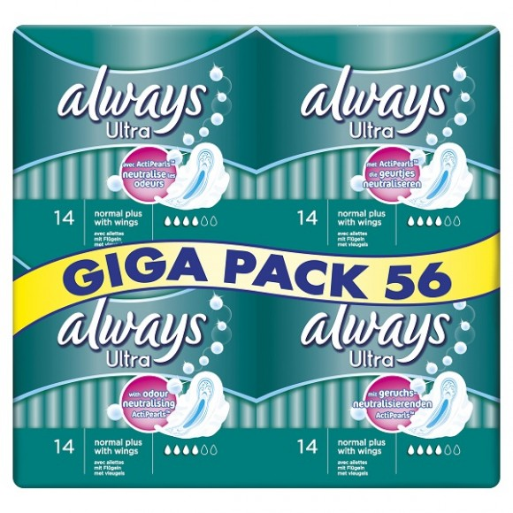 Always Σερβιέτα Ultra Normal Giga Pack 56τμχ