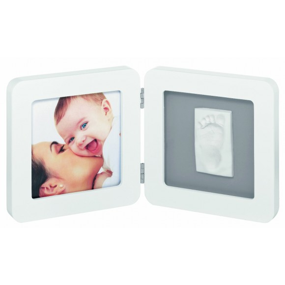 Baby Art Κορνίζα Αποτύπωμα Print Frame White & Grey My Baby Touch