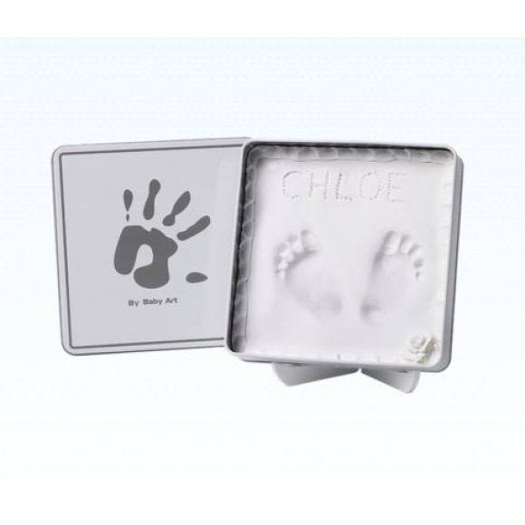 Baby Art Κουτί για Αποτύπωμα Magic Square White & Grey
