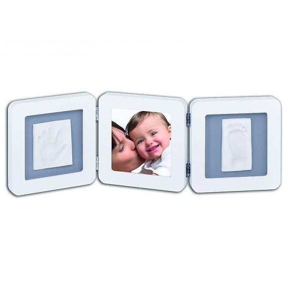 Baby Art Διπλή Κορνίζα Αποτύπωμα Double Frame White & Grey