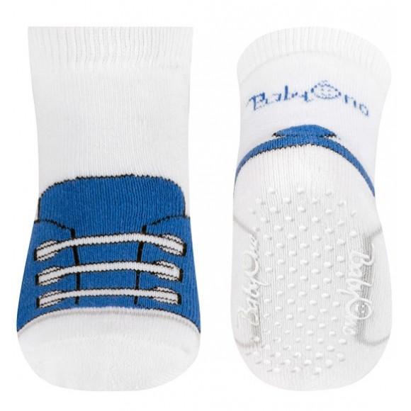 BabyOno Αντιολισθητικά Καλτσάκια Μπλε Παπουτσάκι 6-12 μηνών