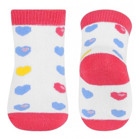 BabyOno Καλτσάκια με Καρδούλες Ροζ 6-12 μηνών
