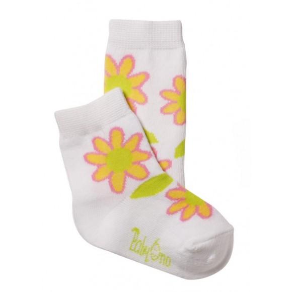 BabyOno Καλτσάκια με Λουλούδια Λευκά 6-12 μηνών