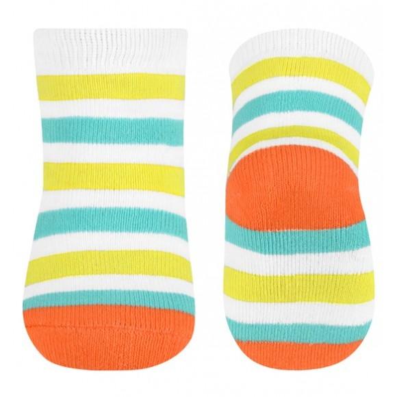 BabyOno Καλτσάκια με Ρίγα Πορτοκαλί 6-12 μηνών