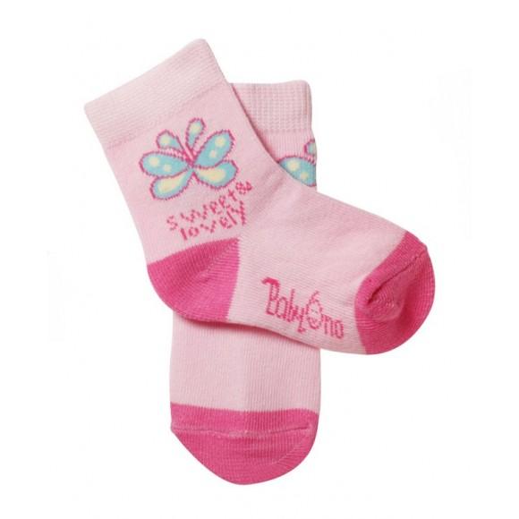 BabyOno Καλτσάκια με Σχέδια Ροζ 6-12 μηνών