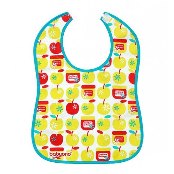 BabyOno Βαμβακερή Σαλιάρα Φρούτα 9 μηνών+
