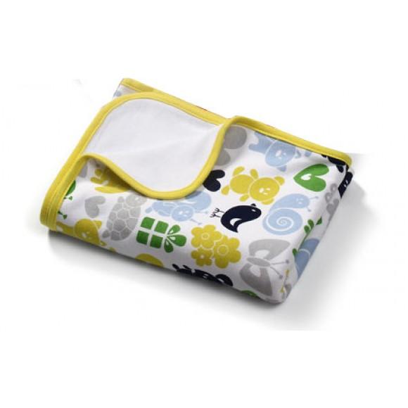 BabyOno Βαμβακερή Κουβέρτα 75x100cm Κίτρινη με Σχέδια