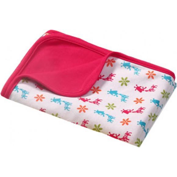 BabyOno Βαμβακερή Κουβέρτα 75x100cm Ροζ με Σχέδια