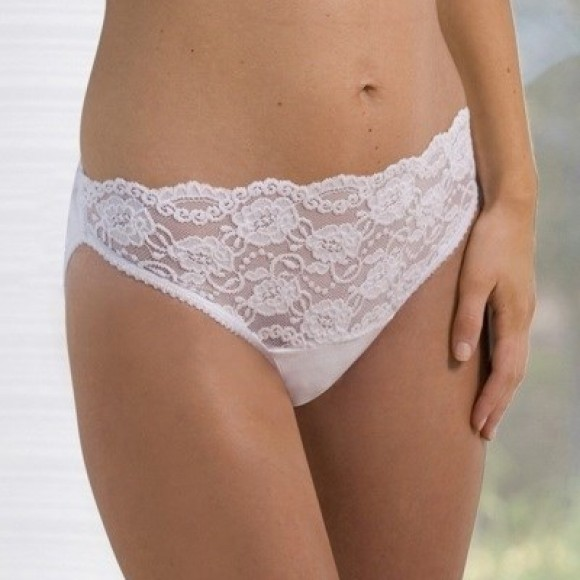 Carriwell Κιλότα από Ελαστική Δαντέλα Lace Stretch Panties Λευκή Large