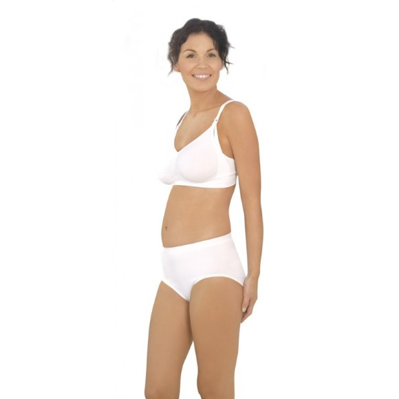 Carriwell Kιλότα Λοχείας Χωρίς Ραφές που «Σμιλεύει» το Σώμα Post Birth Shapewear Panties Άσπρη XLarge