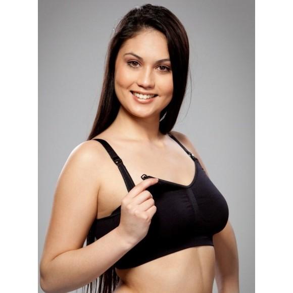 Carriwell Σουτιέν Θηλασμού χωρίς Ραφές Seamless Nursing Bra Μαύρο