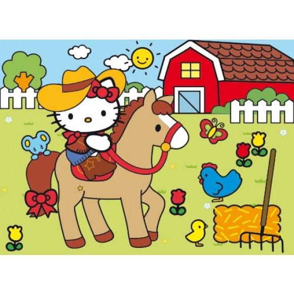 Clementoni Παζλ και Ζωγραφική Hello Kitty 30τμχ 23618