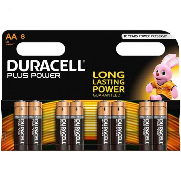 Duracell Αλκαλικές Μπαταρίες Plus Power AA 8τμχ