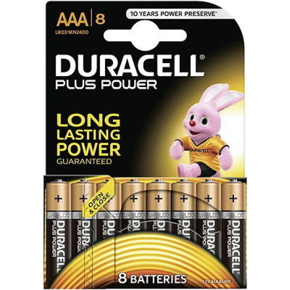 Duracell Αλκαλικές Μπαταρίες Plus Power AAA 8τμχ
