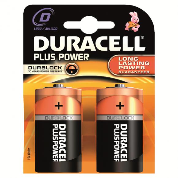 Duracell Αλκαλικές Μπαταρίες Plus Power D