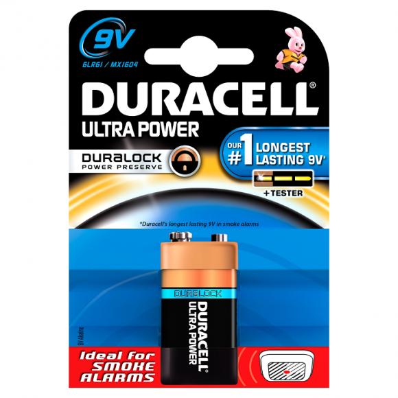 Duracell Αλκαλικές Μπαταρίες Ultra Power 9V