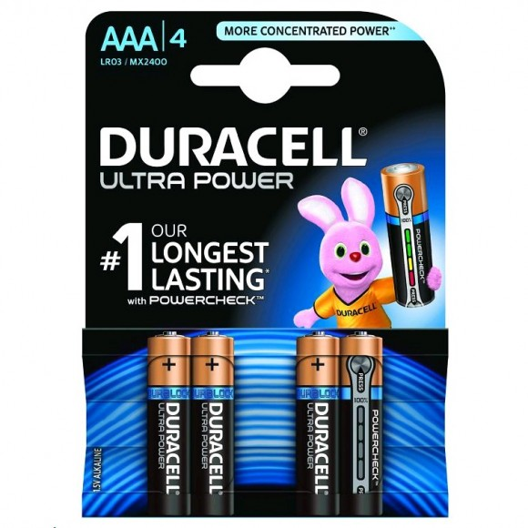 Duracell Αλκαλικές Μπαταρίες Ultra Power AAA 4τμχ