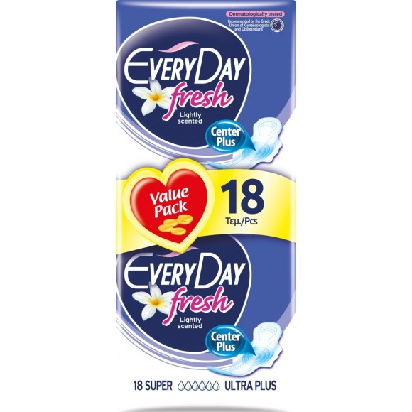 EveryDay Σερβιέτες Fresh Ultra Plus Super 18τεμ
