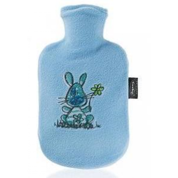 Fashy Παιδική Θερμοφόρα Νερού 0,8 λίτρα με Κάλυμμα Fleece Γαλάζιο