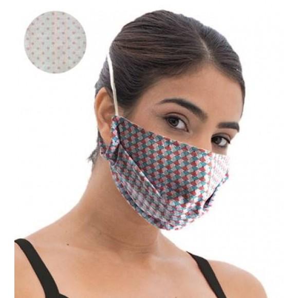 Fashy Υφασμάτινη Μάσκα Χρωματιστή Ενηλίκων (5807) - Pink Dots