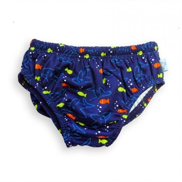 Fashy Little Stars Πάνα Μαγιό Μπλε Ψαράκια 16-24 μηνών Large