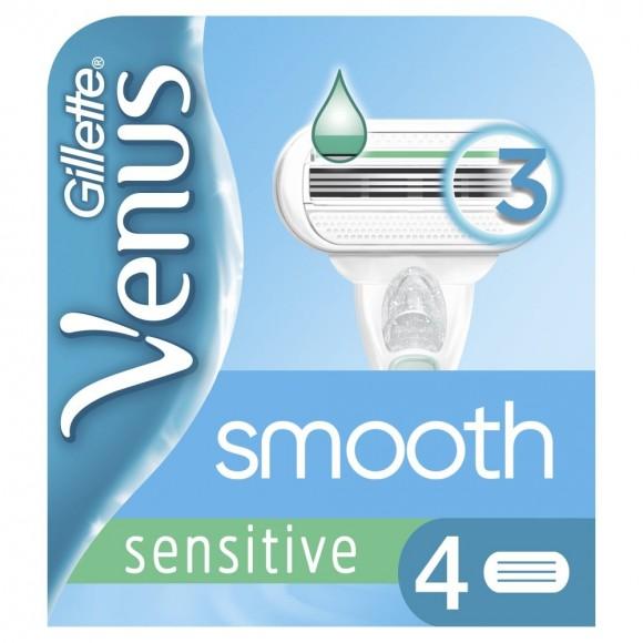 Gillette Venus Smooth Sensitive Ανταλλακτικά Ξυραφάκια 4τμχ