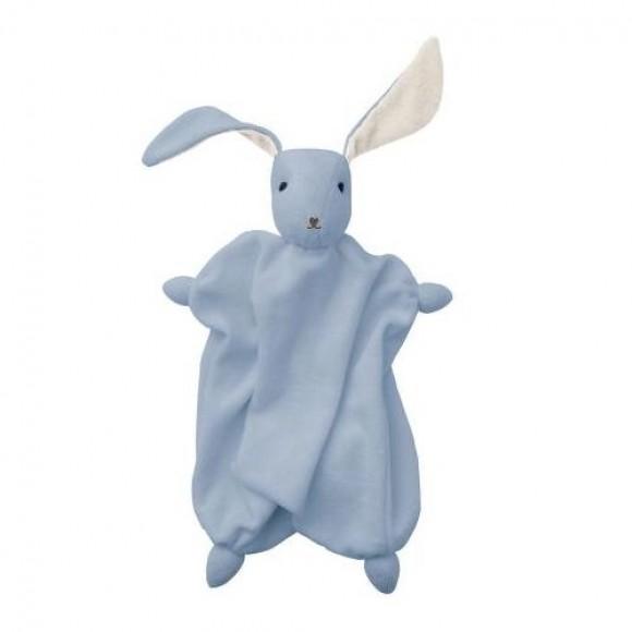 Hoppa Tino Πάνα Αγκαλιάς Λαγουδάκι Blue White by Babylonia
