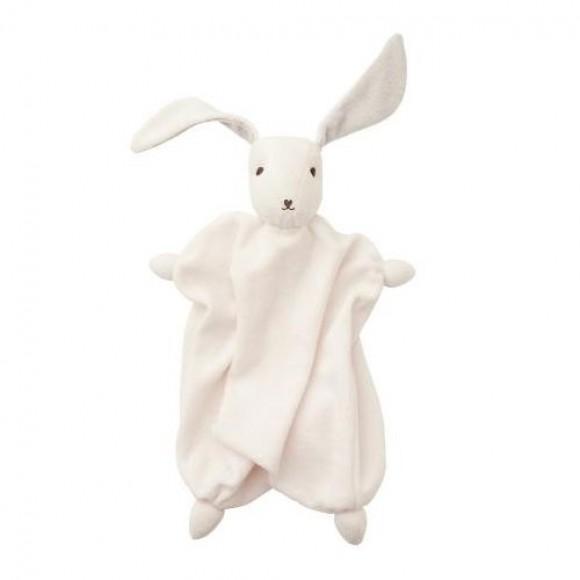 Hoppa Tino Πάνα Αγκαλιάς Λαγουδάκι White Grey