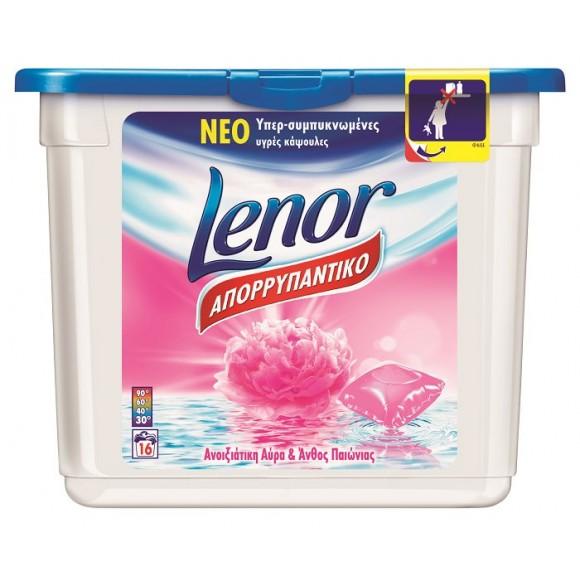 Lenor Απορρυπαντικό Πλυντηρίου Κάψουλες Ανοιξιάτικη Αύρα 16τμχ