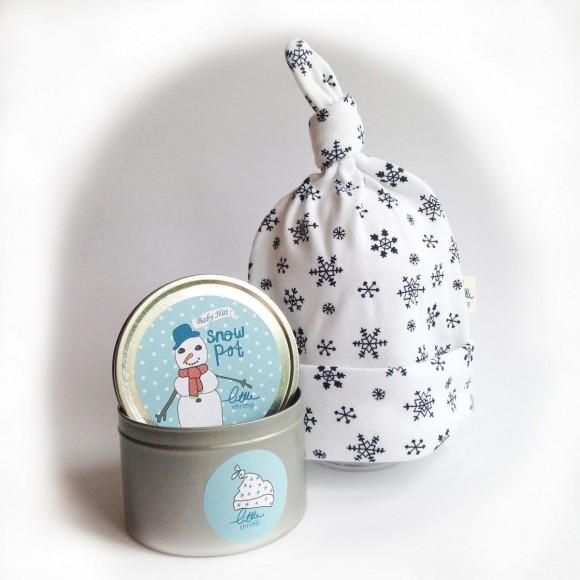 Little Shrimp Σκουφάκι Snow Hat για Μωράκια Μπλέ