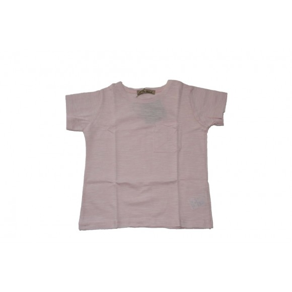 LOL the Brand Μπλουζάκι T-shirt Ροζ με Τσέπη 12-18 μηνών