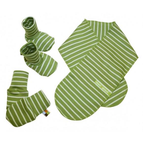 Loud+Proud Σετ για Νεογέννητο Κασκόλ-Γάντια-Πατουσάκια Πράσινο
