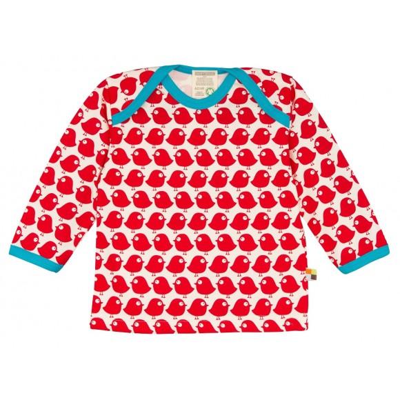 Loud+Proud Μακρυμάνικη Μπλούζα από Οργανικό Βαμβάκι με Πουλάκια 12-18 μηνών