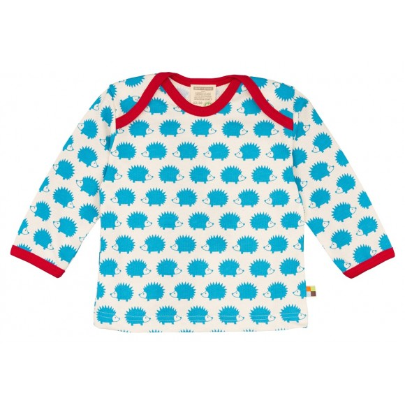 Loud+Proud Μακρυμάνικη Μπλούζα από Οργανικό Βαμβάκι με Σκαντζόχοιρο 12-18 μηνών