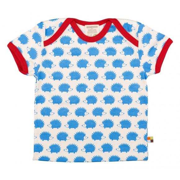 Loud+Proud Κοντομάνικο Μπλουζάκι από Οργανικό Βαμβάκι Γαλάζιο 18-24 μηνών