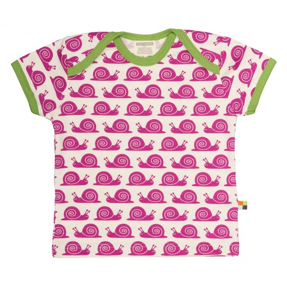Loud+Proud Κοντομάνικο Μπλουζάκι από Οργανικό Βαμβάκι Φούξια 2-4 ετών