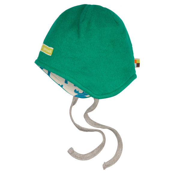 Loud+Proud Σκουφάκι Διπλής Όψης από Οργανικό Βαμβάκι Πράσινο 6-12 μηνών