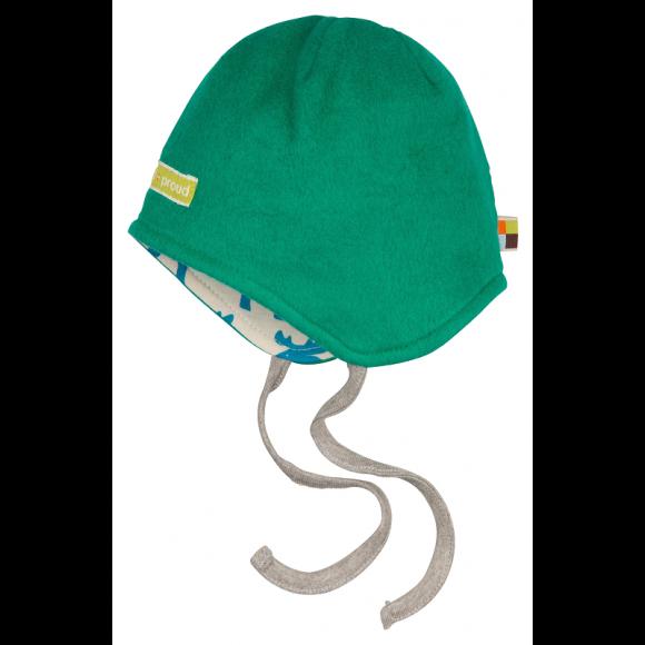 Loud+Proud Σκουφάκι Διπλής Όψης από Οργανικό Βαμβάκι Πράσινο 12-18 μηνών
