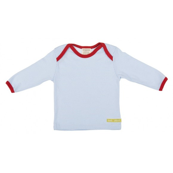 Loud+Proud Μακρυμάνικη Μπλούζα από Οργανικό Βαμβάκι Γαλάζιο 0-6 μηνών