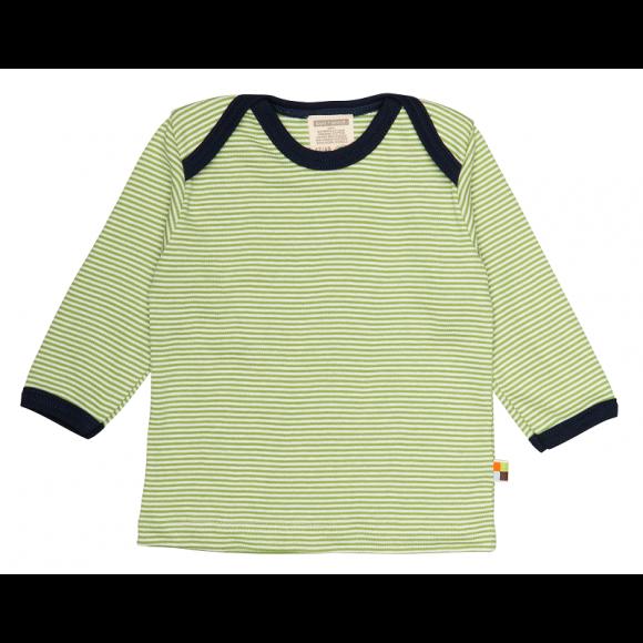 Loud+Proud Μακρυμάνικη Μπλούζα από Οργανικό Βαμβάκι Πράσινο 6-12 μηνών