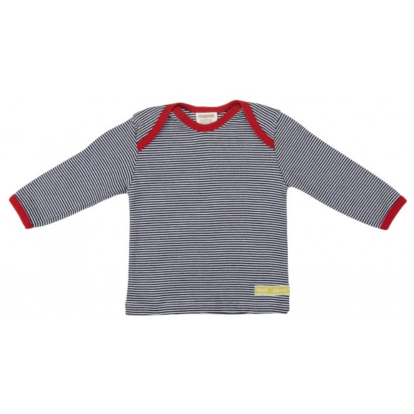Loud+Proud Μακρυμάνικη Μπλούζα από Οργανικό Βαμβάκι Μπλέ 0-6 μηνών