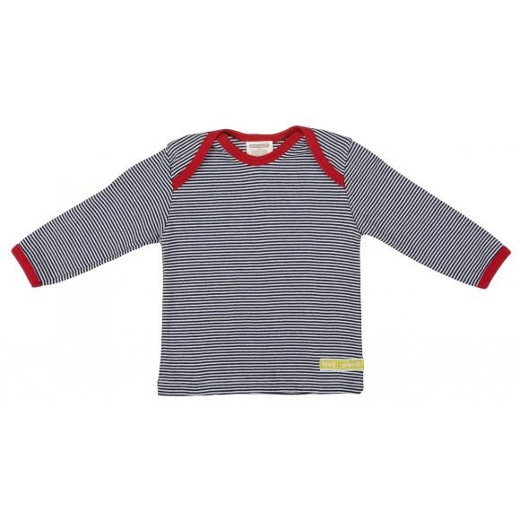 Loud+Proud Μακρυμάνικη Μπλούζα από Οργανικό Βαμβάκι Μπλέ 12-18 μηνών