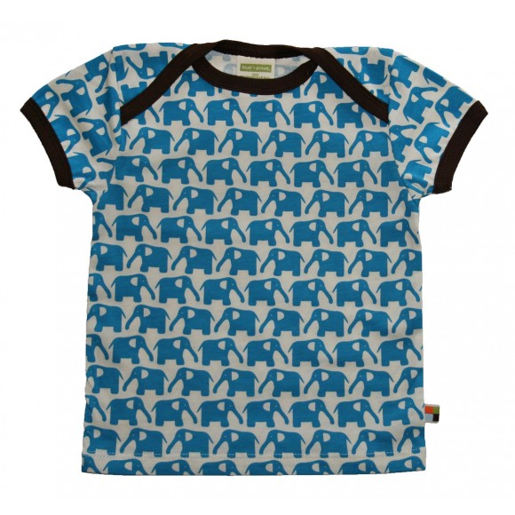 Loud+Proud Κοντομάνικο Μπλουζάκι από Οργανικό Βαμβάκι Μπλέ 12-18 μηνών